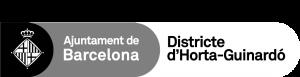 logo Dte Horta-Guinardó per fons fosc gris